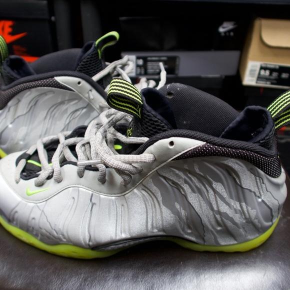 Nike Shoes | Nike Foamposite Grey Lime